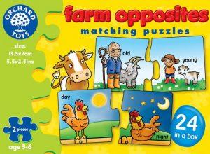 Farm Opposites Puzzle